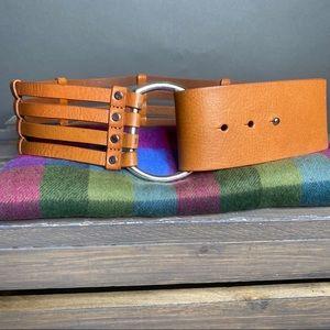 Banana Republic Accessories - Banana Republic Thick Waist Hook Belt Small Cognac